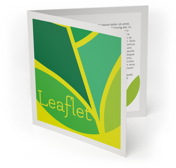 Communication formats printing: Leaflet