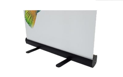 New Product: Black Deluxe Roll-up with Anti-Curving Banner