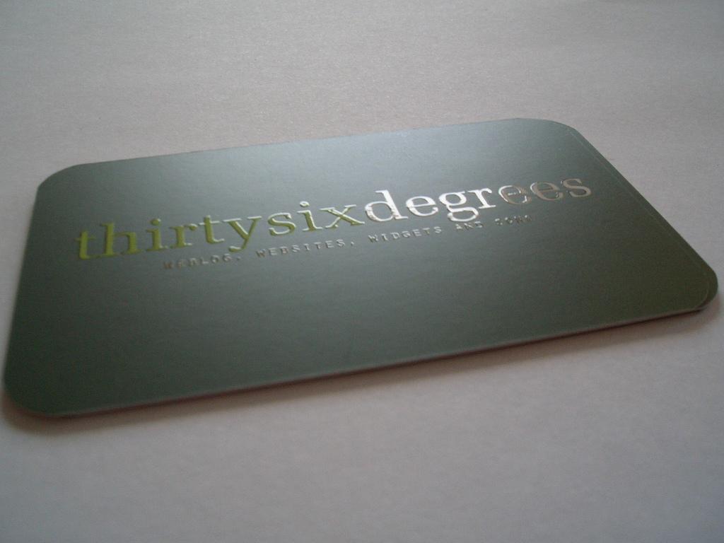 Impressions vernis UV carte de visite