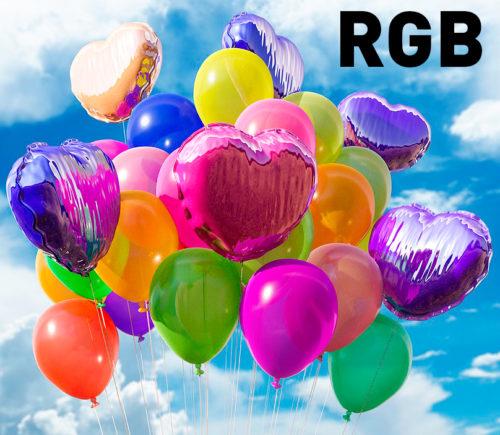 Muestra de los colores en RGB - PCG Barcelona
