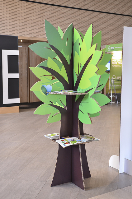 Soportes de comunicación feria : Muebles de cartón - PCG Barcelona