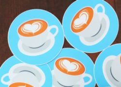 Trade show communication tools : Coasters - PCG Barcelona
