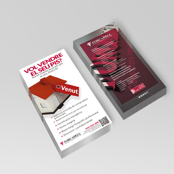 Trade show communication tools : Business cards - PCG Barcelona