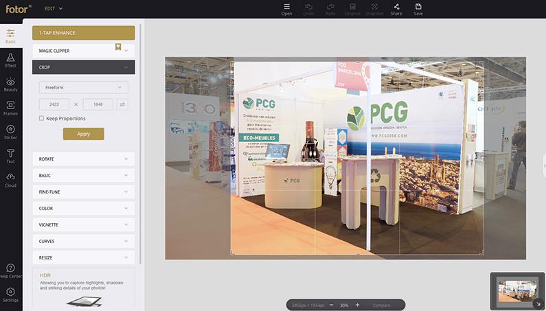 Design Tool : Fotor - PCG Barcelona