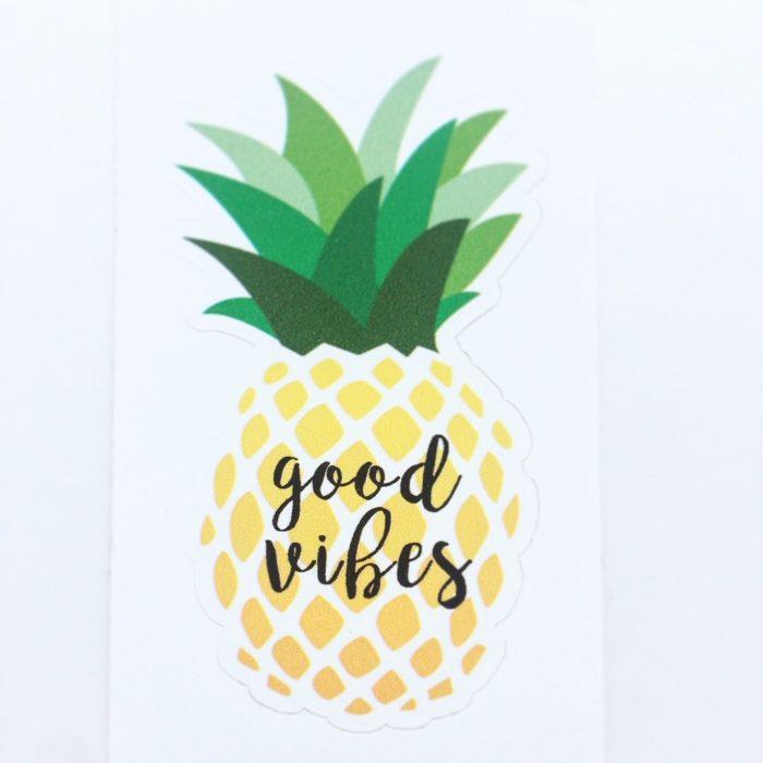 Sticker Ananas vinyle adhésif Easydot - PCG Barcelone