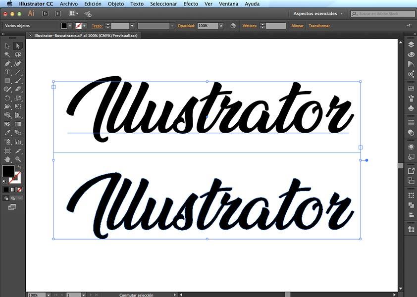 Contornear texto en Illustrator - PCG Barcelona