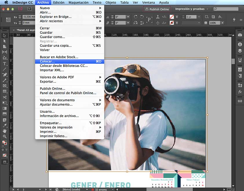 Colocar imagen en InDesign - PCG Barcelona