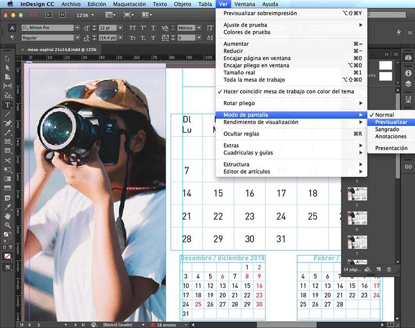 Modo Pantalla en InDesign - PCG Barcelona