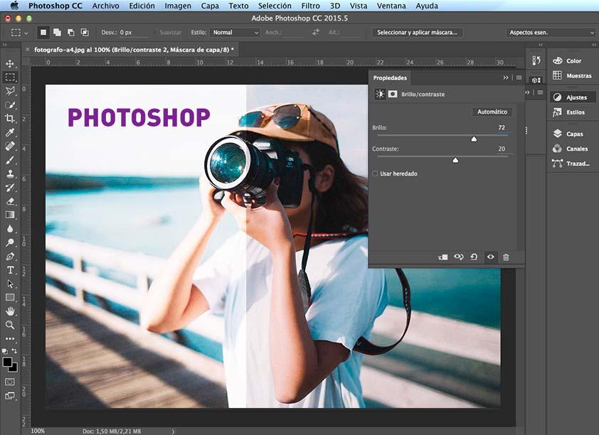 Ajustes en Photoshop - PCG Barcelona