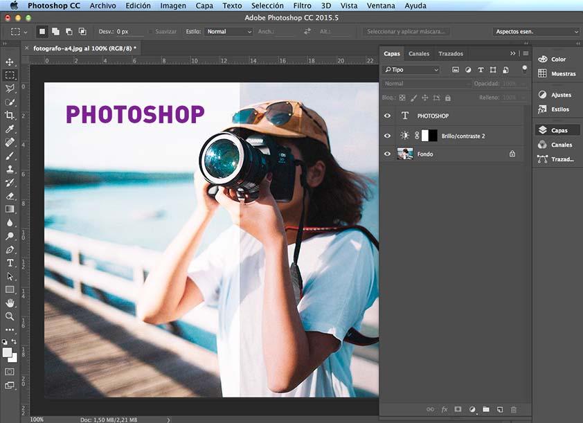 Capas en Photoshop - PCG Barcelona