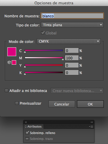Muestra de color Illustrator| PCG Barcelona