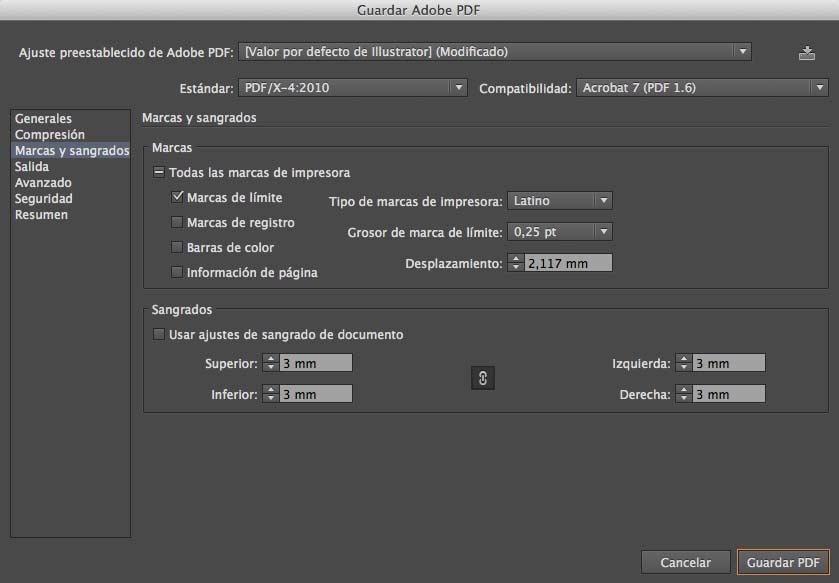 Sauvegarder sur Adobe PDF | PCG Barcelone